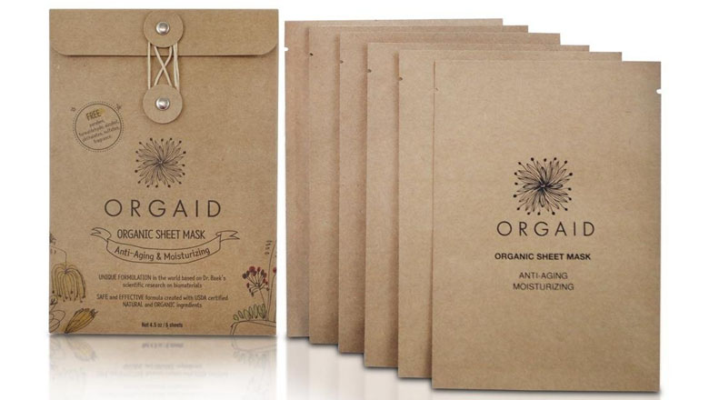 orgaid moisturizing korean face mask set
