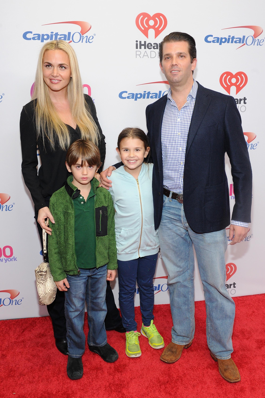 Donald Trump Jr., wife Vanessa Haydon, and children Kai Madison and Donald John III.  (Getty)