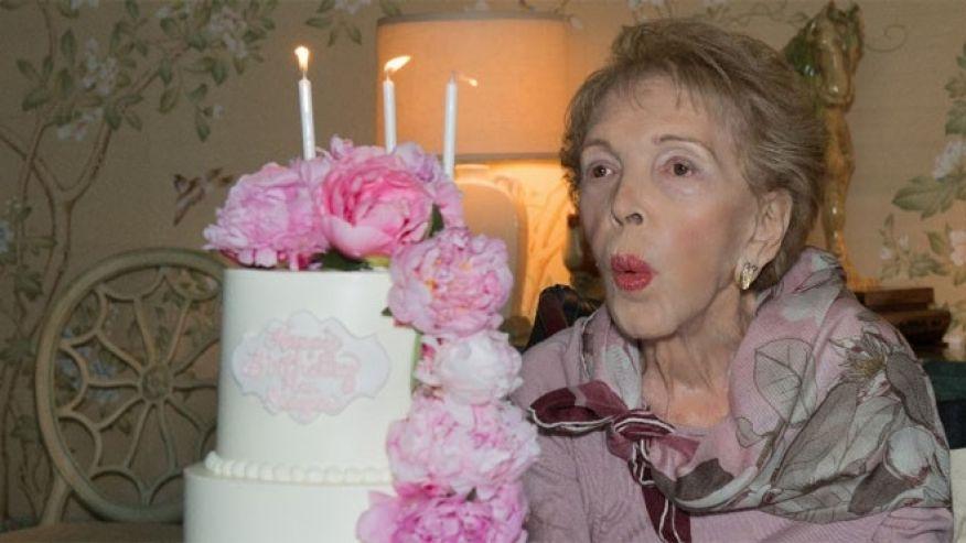 Nancy Reagan celebrating her 94th birthday on July 6, 2015. (Ronald Reagan Presidential Foundation)
