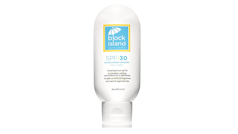 block island organics SPF 30 mineral sunscreen lotion