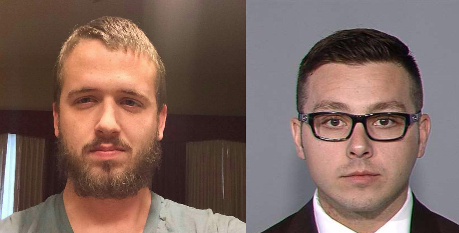 Daniel Shaver, left, and ex-Officer Philip Brailsford.