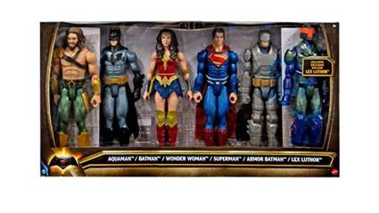 batman v superman figures 6 pack