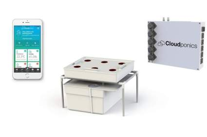 Cloudponics Hydro Kit Fully Automated Complete at-Home Hydroponic Grow System