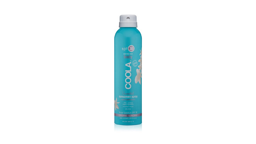 Coola SPF 30 spray sport organic sunscreen