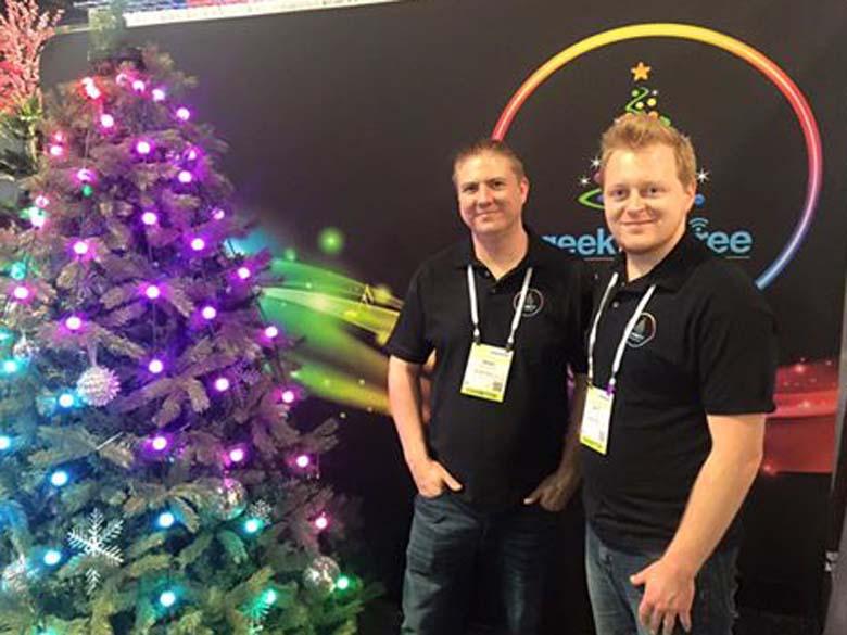 geek my tree, christmas lights smartphone, christmas lights app shark tank
