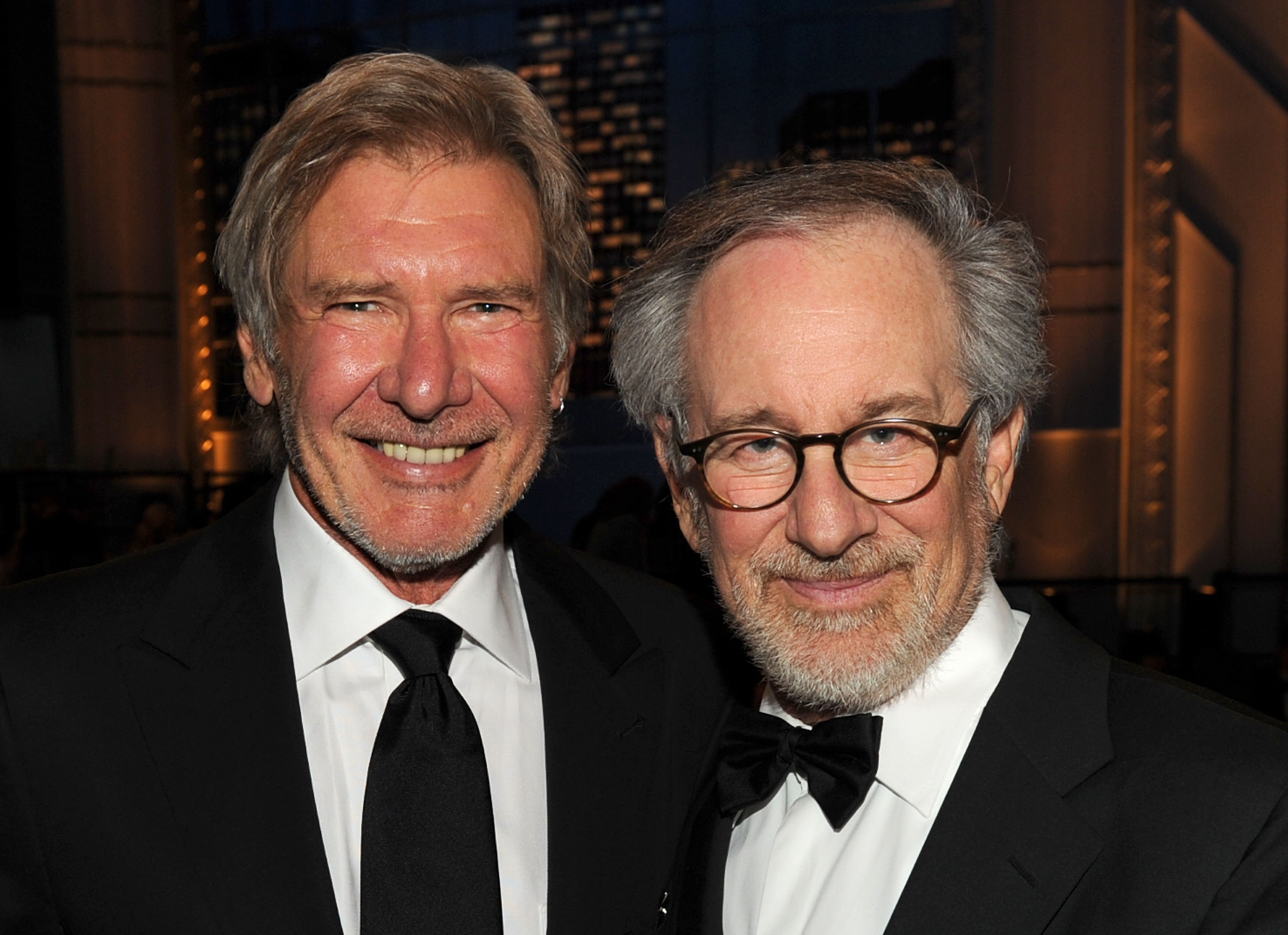 Harrison Ford and Steven Spielberg. (Getty)