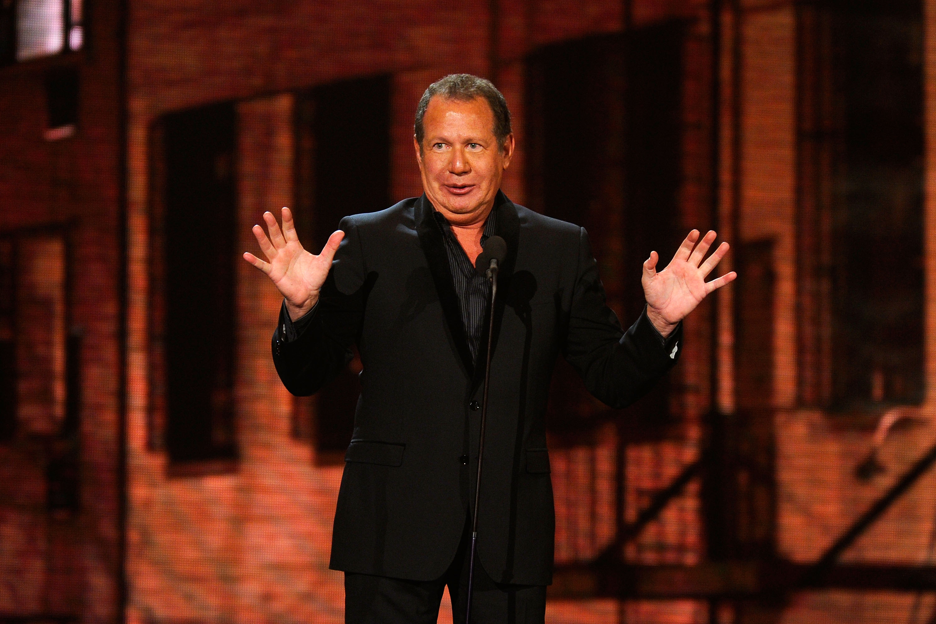 Garry Shandling speaks onstage at the First Annual Comedy Awards at Hammerstein Ballroom on March 26, 2011 in New York City.  (Getty)