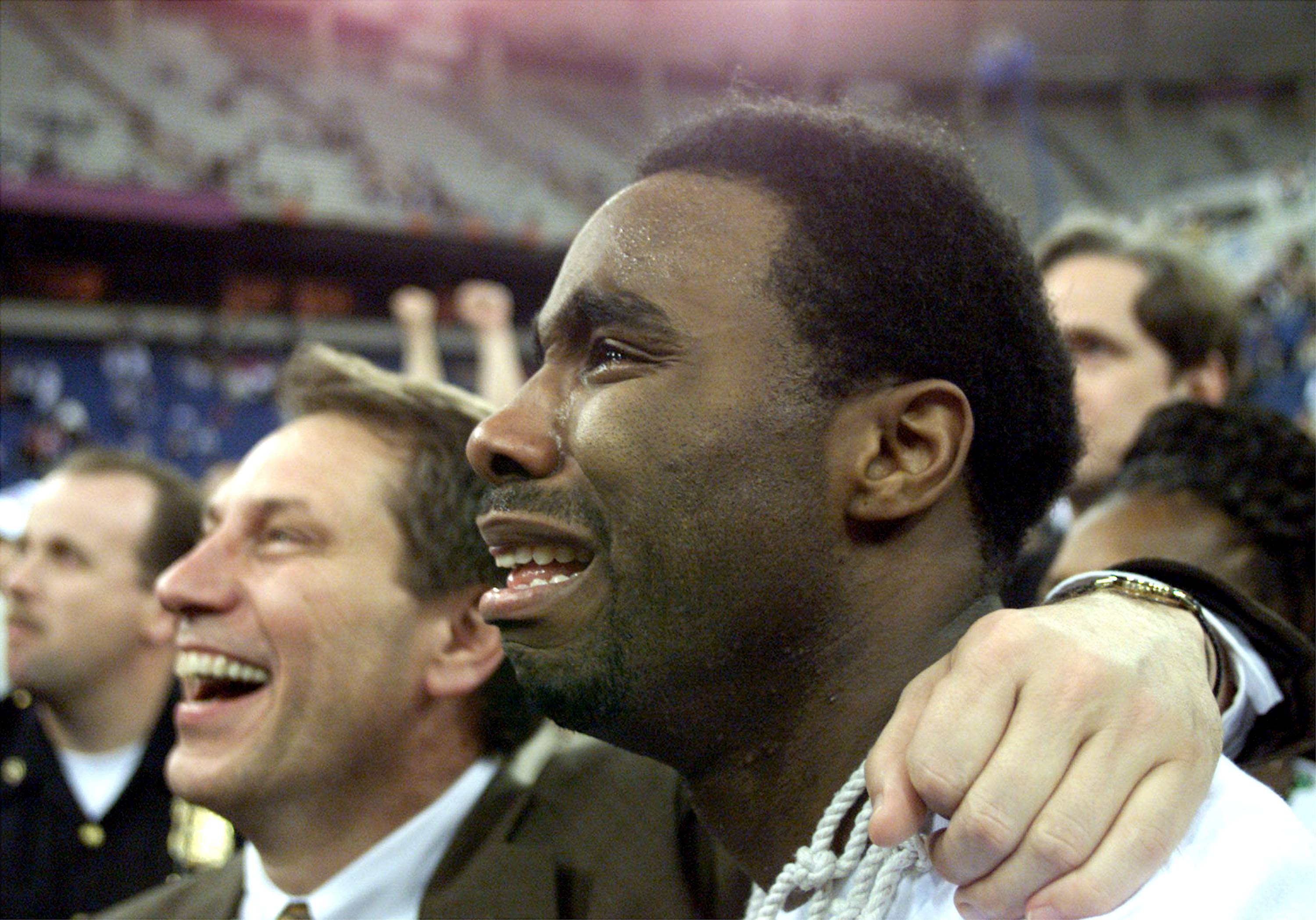 Cleaves and Michigan State basketball coach Tom Izzo. (Getty)