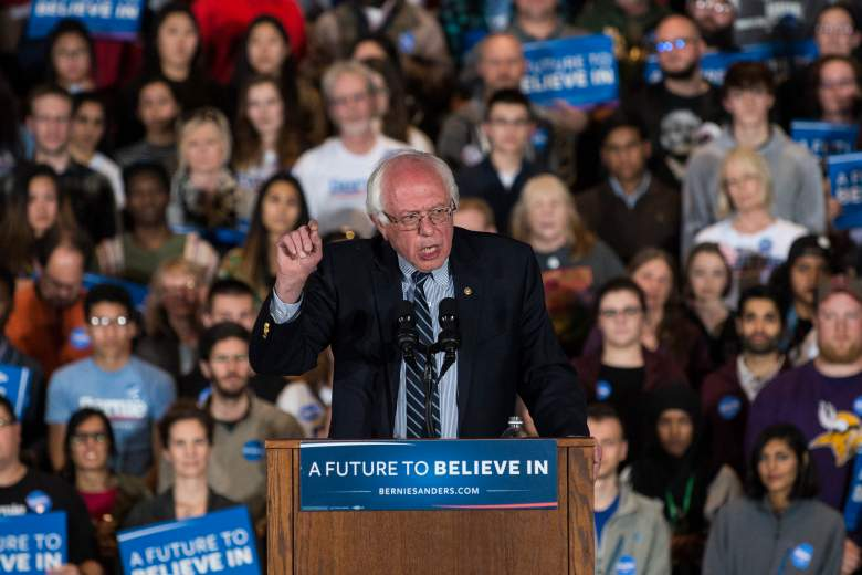 Bernie Sanders net worth, Bernie Sanders at podium