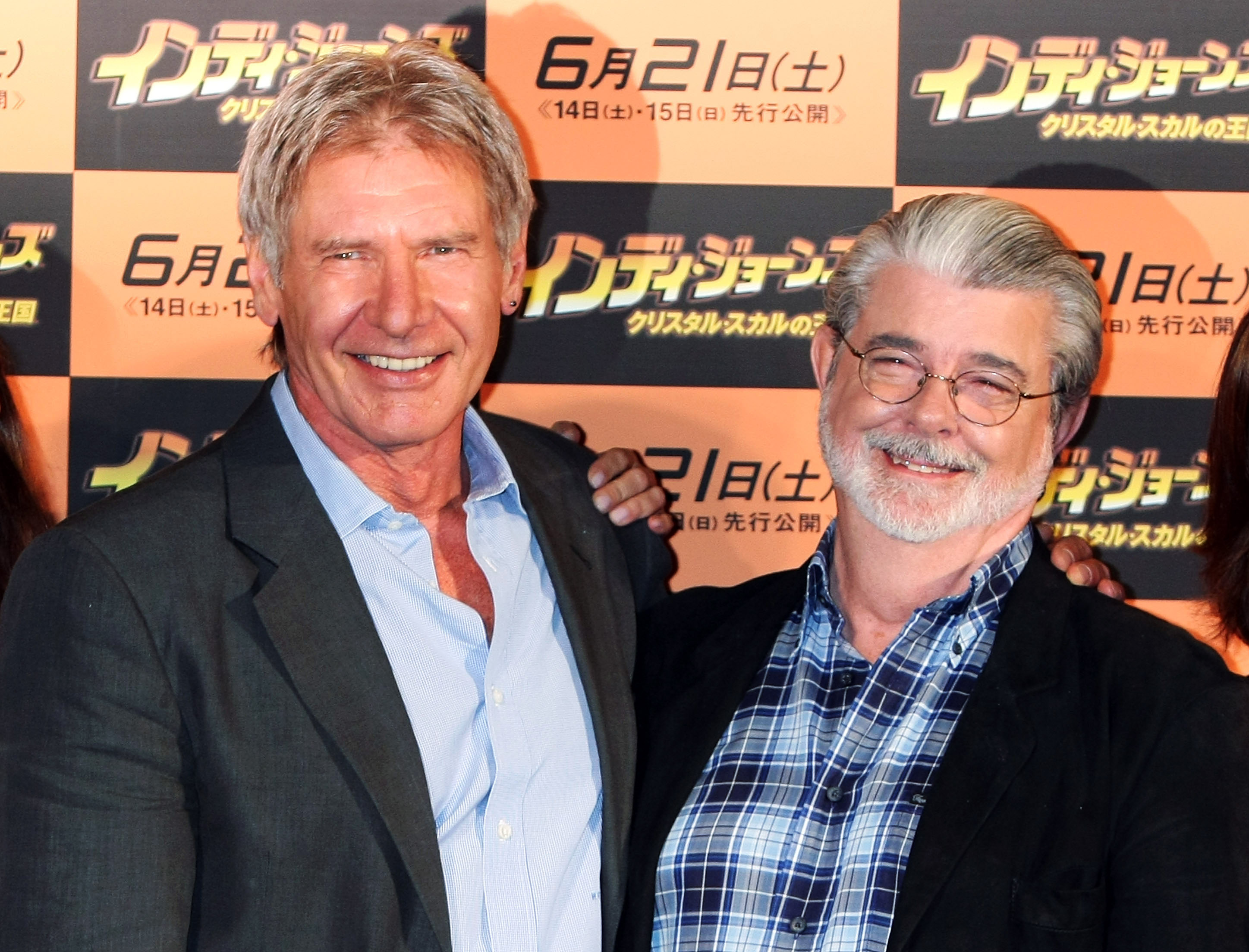 Harrison Ford and George Lucas. (Getty)