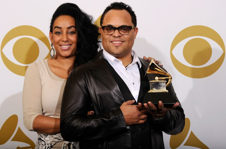 Israel Houghton (R) and his now ex-wife Meleasa Houghton (L) at The 53rd Annual GRAMMY Awards in Los Angeles. (Getty)