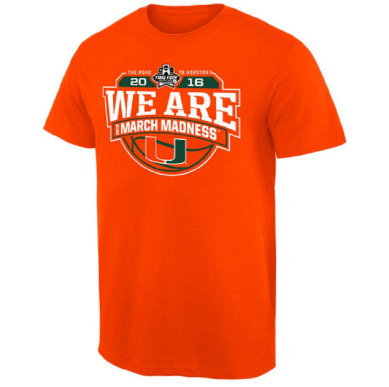 miami hurricanes sweet 16 gear shirts
