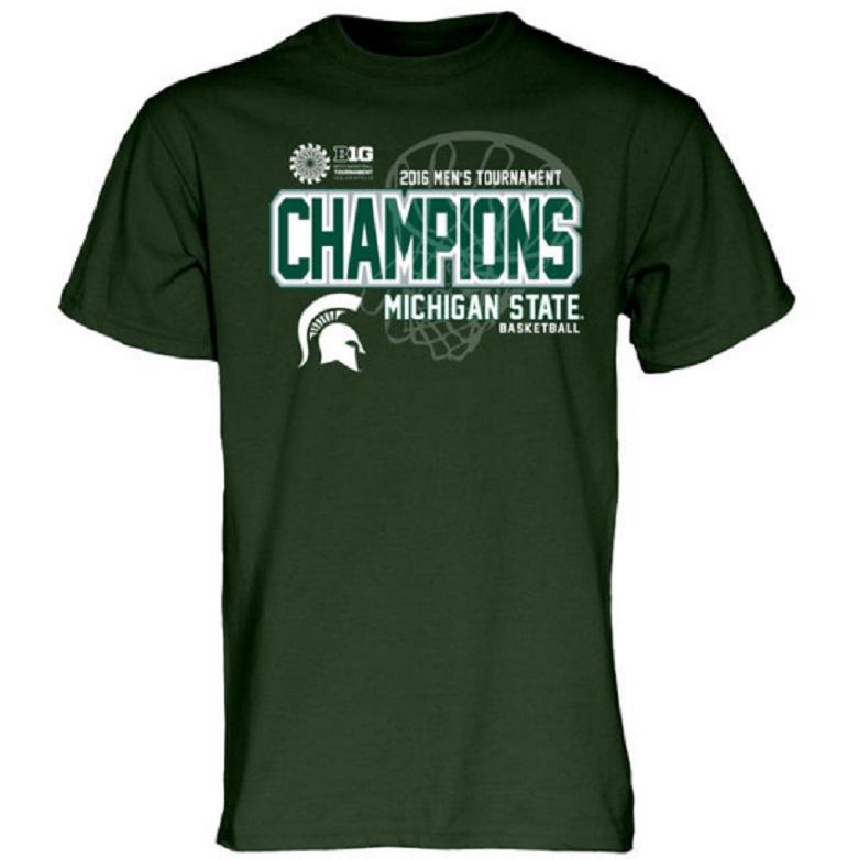 michigan state spartans big ten 2016 champions gear shirt
