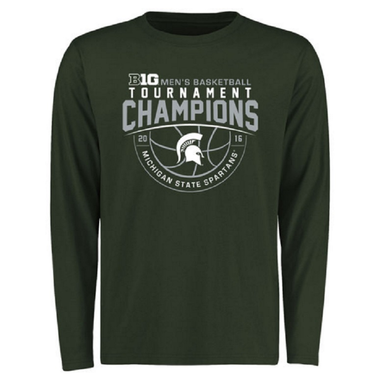 msu spartans big 10 conference champs 2016 gear shirts