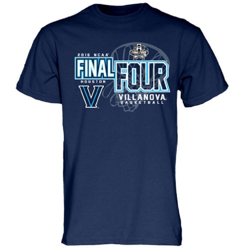 villanova wildcats 2016 final four gear shirts