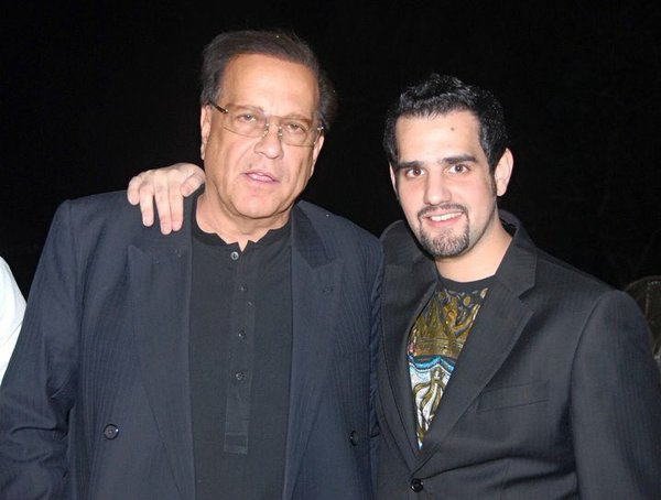 Shahbaz Taseer, right, with his father, Salmaan Taseer, who was assassinated in 2011. (Twitter)