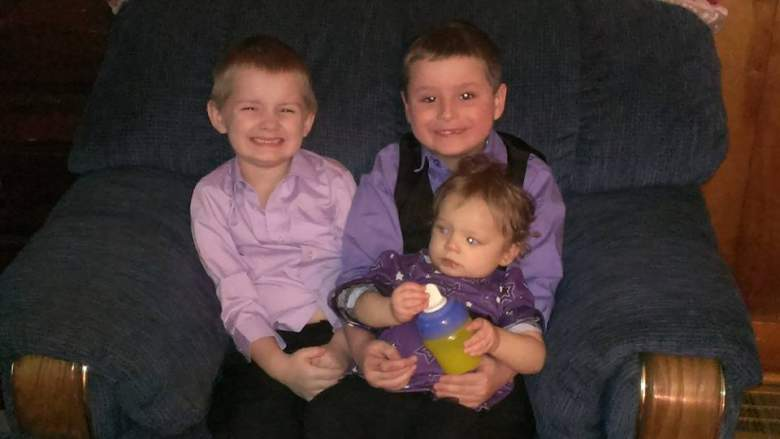 Baby Shaylyn, center, is pictured here with her big brothers. (Facebook/JessykaEller19)