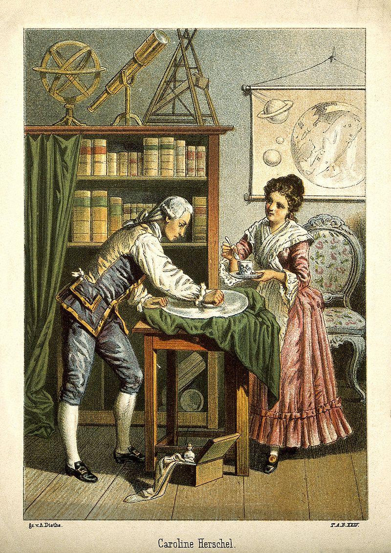 William Herschel Carolina sister brother