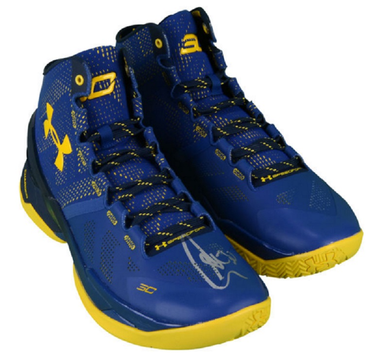 stephen curry warriors autographed shoes sneakers