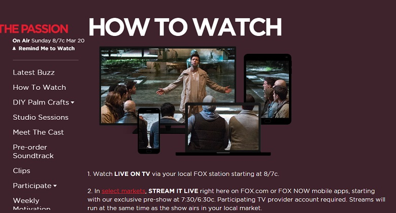 The Passion, The Passion Live, The Passion Live Streaming, The Passion FOX, The Passion Date, The Passion New Orleans, What Time Is The Passion On TV Tonight, When Is The Passion On TV