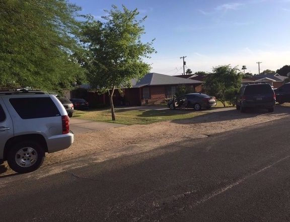 The house where the drug raid occurred. (Maricopa County Sheriff's Office)
