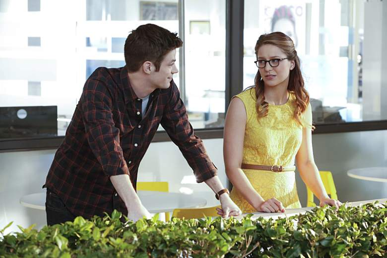 grant gustin and melissa benoist, supergirl the flash crossover