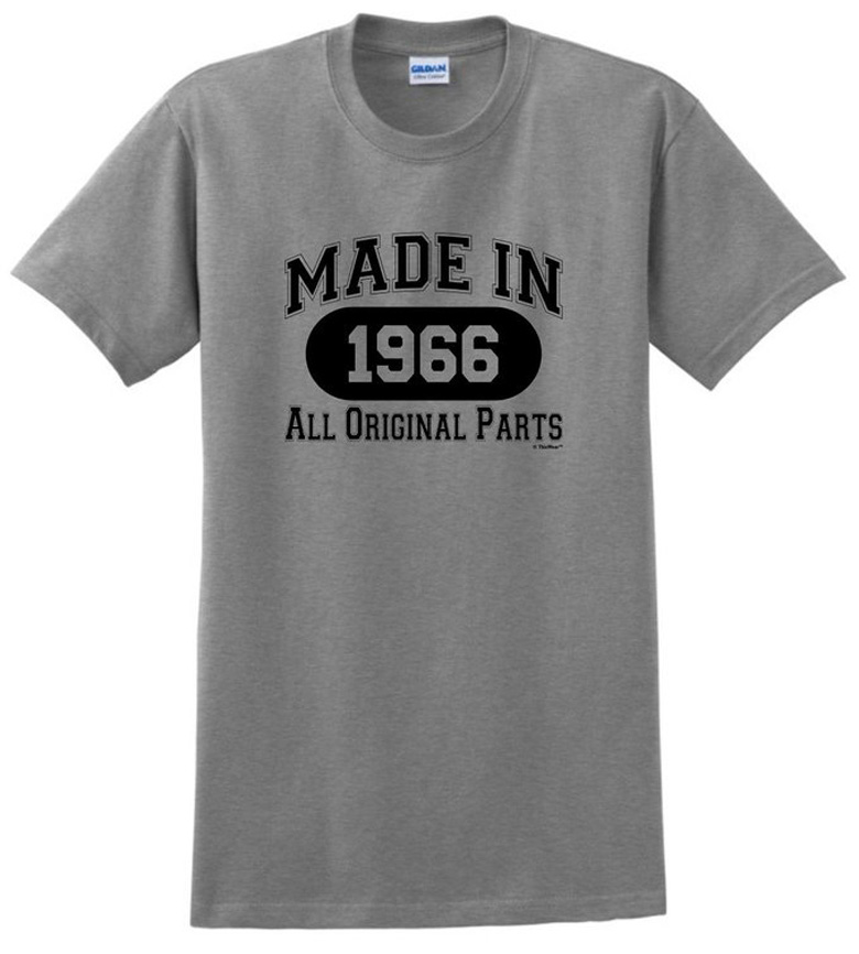 50th Birthday Gift Made 1966 All Original Parts T-Shirt