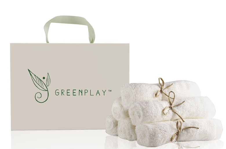 6 Washcloths from Organic Bamboo by Greenplay