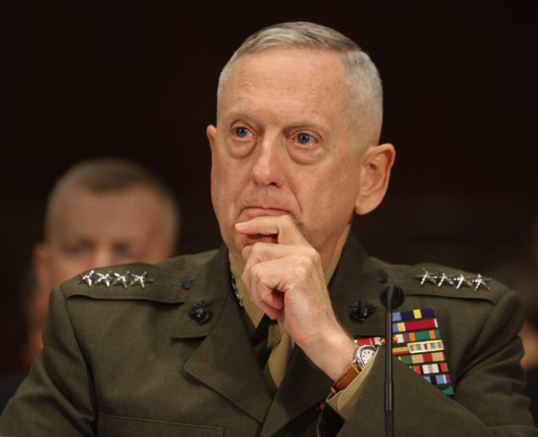 "Marine Corps General James Mattis, commander of the US Central Command, appears before the Senate Armed Services Committee on Capitol Hill in Washington DC, March 1, 2011. Enforcing a no-fly zone over Libya would first require a military operation to destroy the north African nation's air defense systems, top US commander General James Mattis warned Tuesday. A no-fly zone would require removing ""the air defense capability first,"" Mattis told a Senate hearing. ""It would be a military operation,"" he added. AFP PHOTO/ Chris KLEPONIS (Photo credit should read CHRIS KLEPONIS/AFP/Getty Images)"
