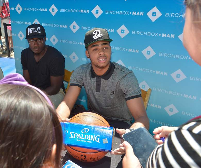 D'Angelo Russell, Kendall Jenner and D'Angelo Russell, L.A. Lakers