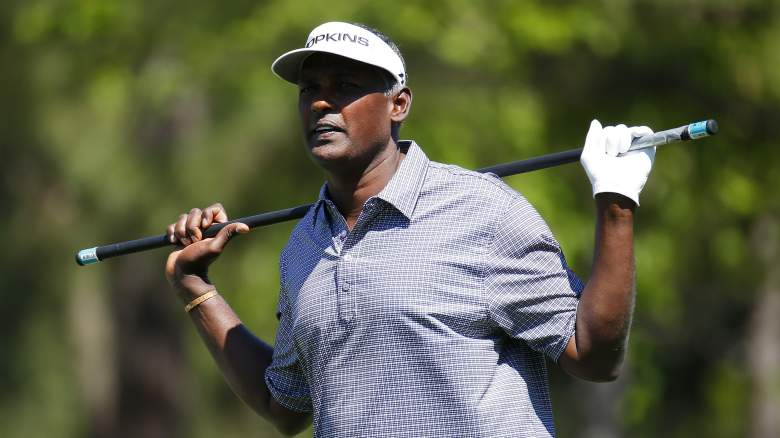 vijay singh masters water hole in one ace