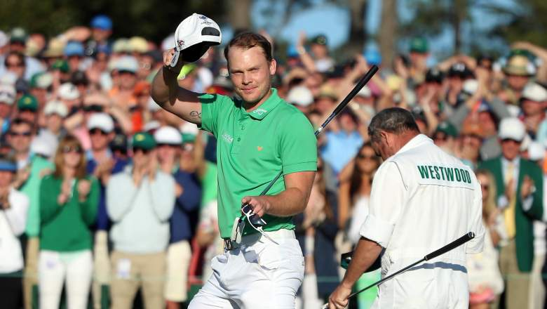 Danny Willett after his final round of the 2016 Masters. (Getty)