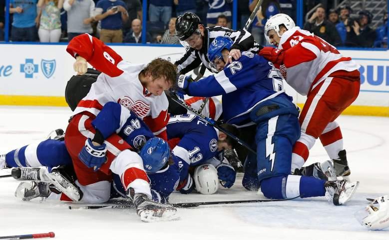 Detroit Red Wings, Tampa Bay Lightning, NHL playoffs