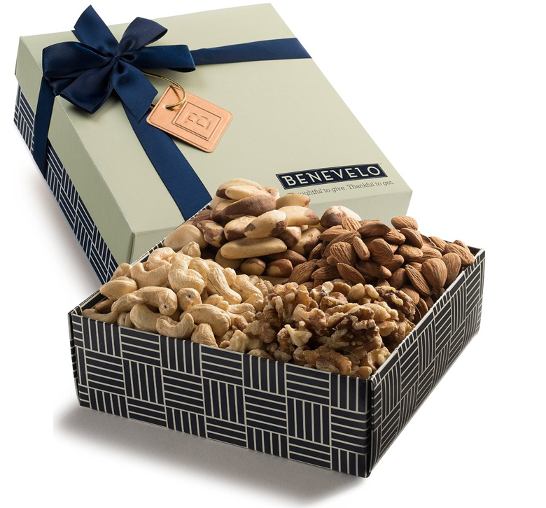 Gourmet Natural Raw Mixed Nuts Gift Basket