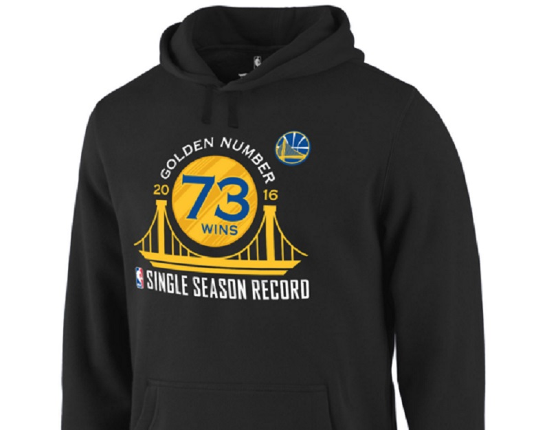 warriors nba record 73 wins gear apparel hoodies