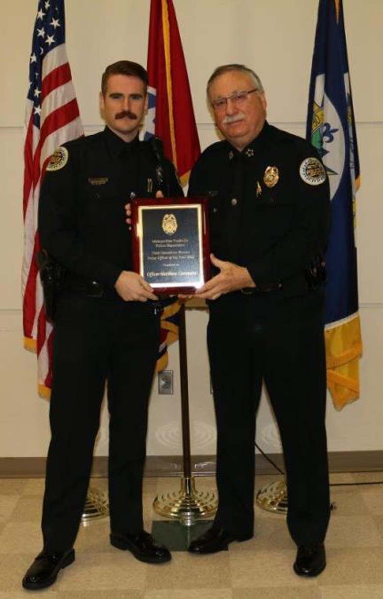 Officer Matthew Cammarn Cop of the Year Nashville