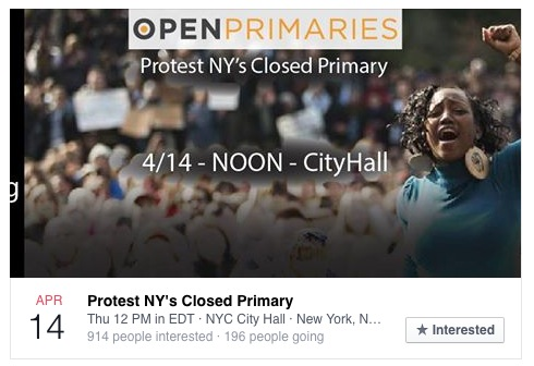 new york primary protest