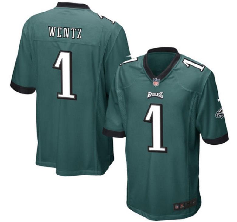 carson wentz eagles nfl draft pick jersey
