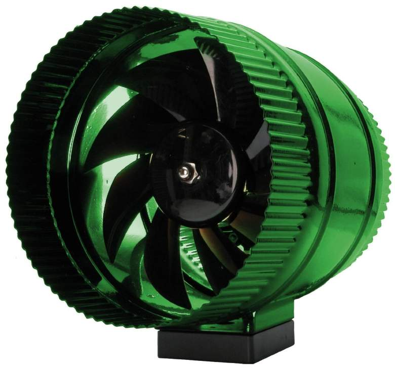 Hydrofarm ACFB8 8-Inch In Line Booster Fan , best duct fan for hydroponics, growing cannabis ventilation, weed marijuana inline fan