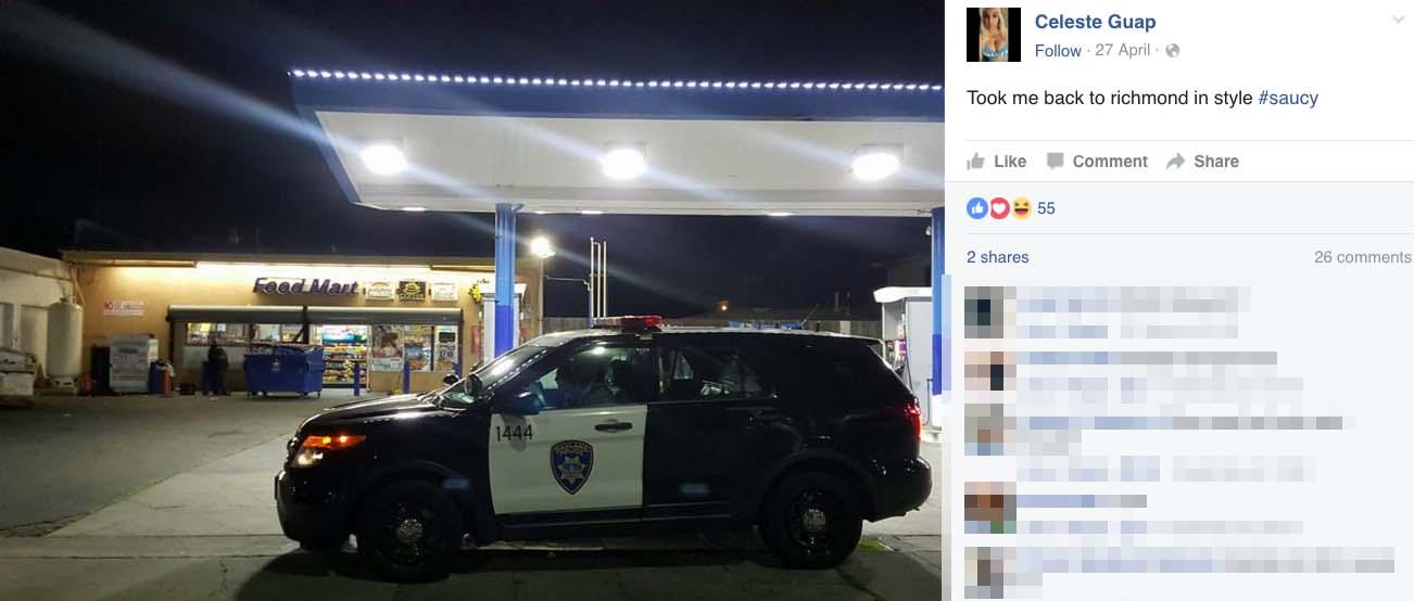 Celeste Guap Oakland Cops Ride