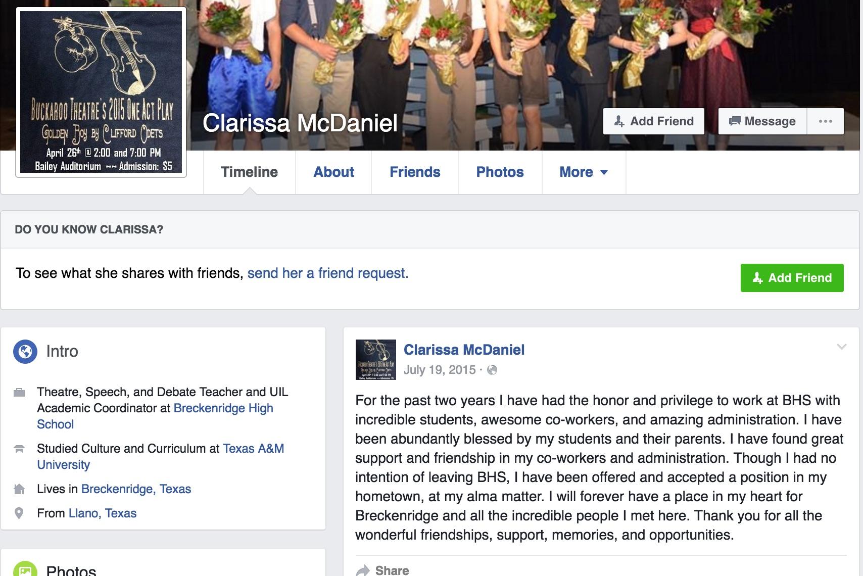 clarissa mcdaniel twitter, clarissa mcdaniel, clarissa mcdaniel llano texas, clarissa mcdaniel llano, clarissa mcdaniel photos, clarissa mcdaniel facebook, clarissa mcdaniel teacher