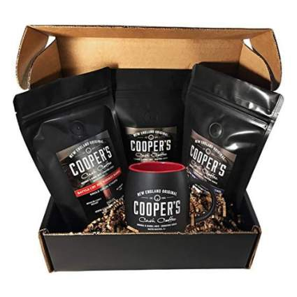 cooper's cask coffee Whiskey & Rum Barrel Aged Coffee Gift Set