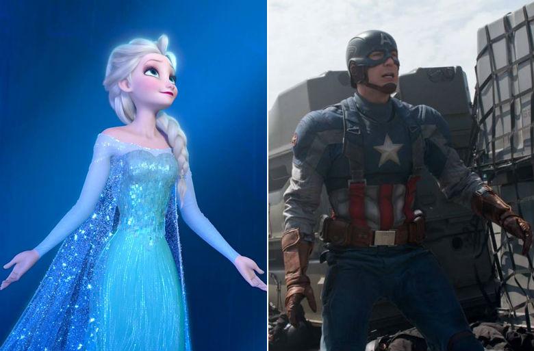 frozen 2, captain america marvel