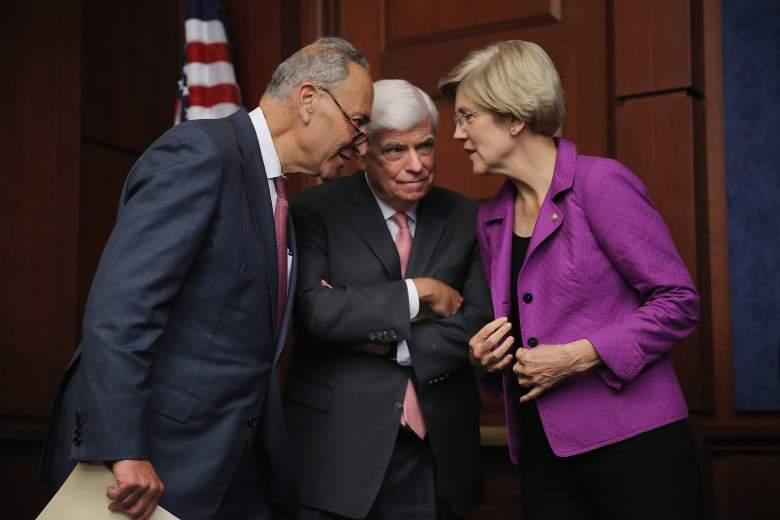 Elizabeth Warren and Chuck Schumer, Elizabeth Warren and Chris Dodd,  Elizabeth Warren Democrat