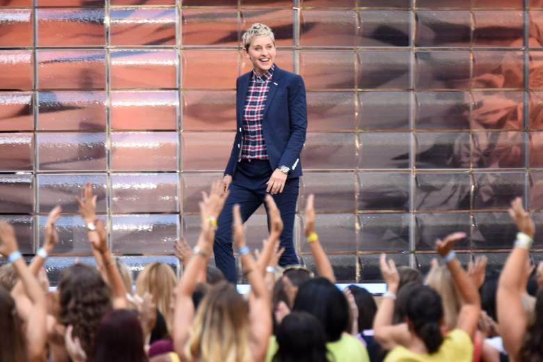 """NEW YORK, NY - SEPTEMBER 08: TV show host Ellen Degeneres appears at """"The Ellen Degeneres Show"""" Season 13 Bi-Coastal Premiere at Rockefeller Center on September 8, 2015 in New York City. (Photo by Dave Kotinsky/Getty Images)"""