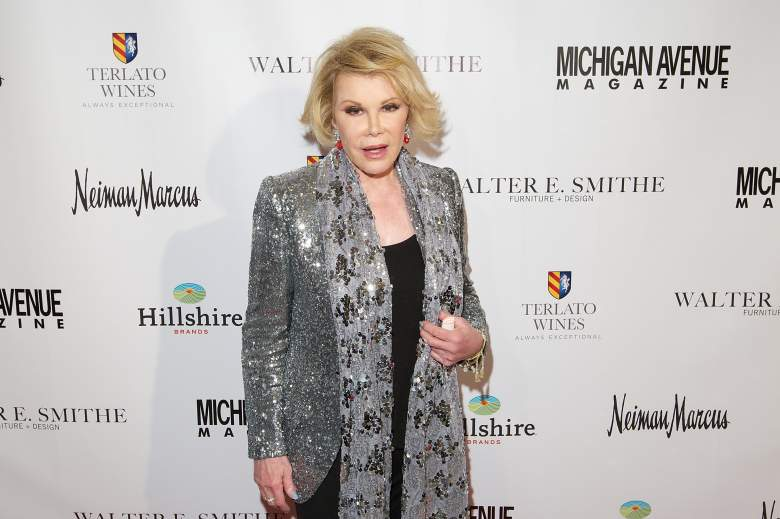 Joan Rivers at Chicago event in 2014 (Getty)