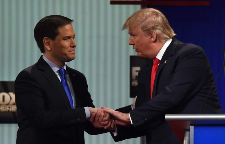 Marco Rubio South Carolina, Marco Rubio Donald Trump handshake, Marco Rubio Fox Business debate