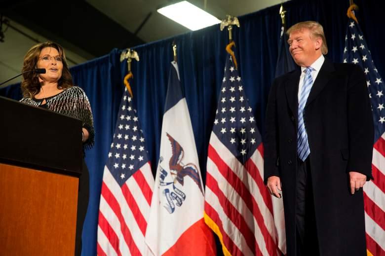 Sarah Palin and Donald Trump, Sarah Palin Iowa, Palin Trump endorsement