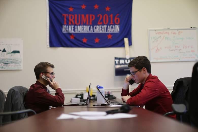 Donald Trump campaign office, Donald Trump volunteers, Donald Trump New Hampshire, Donald Trump calls