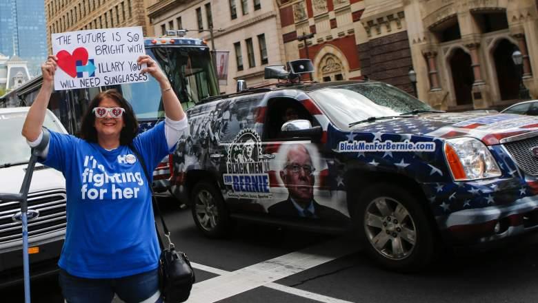 Bernie Sanders convention, Hillary Clinton convention, Democratic primaries remaining